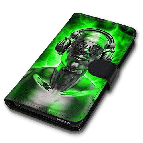 Wallet Book Style Flip Handy Tasche Case Schutz Hülle Schale Motiv Etui für Apple iPhone 6 / 6S - Design Flip MVD281