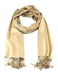 NYFASHION101 Women's Fabulous Large Soft Viscose Scarf Shawl Wrap, Tan #29