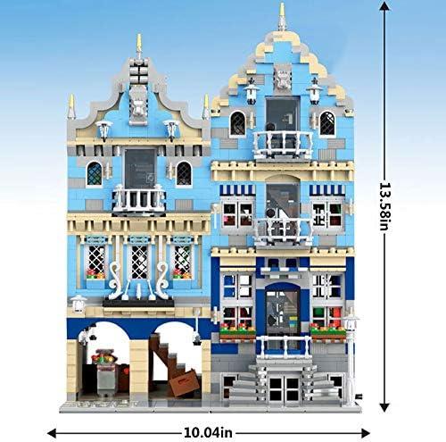 Modulaire Woningbouwsets, Europese Marktmodelbouwset, 3016 Stuks Blokken Compatibel Met Lego,Het Gebouwmodel Is Niet Gemaakt Door Lego