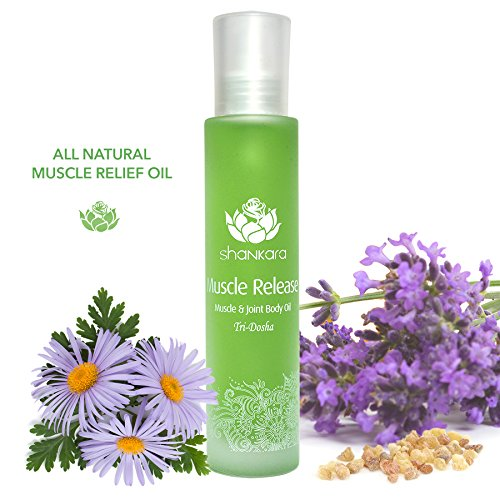 Shankara Muscle Release Oil, Relieves Joints and Muscle Tension with Essential Oils. Includes Arnica, Boswellia & Sweet Birch 100 ml