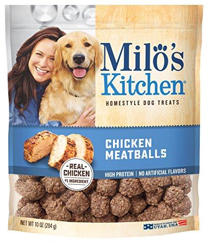 Milo'S Kitchen Chicken Meatballs Dog Treats, 10 Oz.
