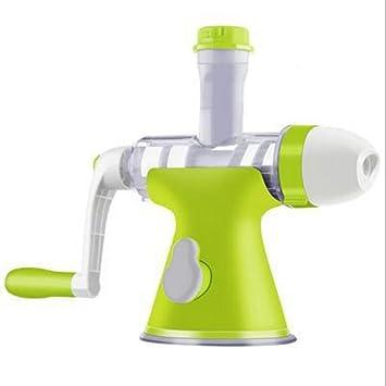 Vaso de Jugo de exprimidor Manual Juicer Slow Fruit Vegetal Wheatgrass Manual de Exprimidor de limón Home Multifunctional Juice Original Hand Juice Máquina ...
