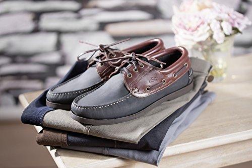 Bootsschuh Nizza azul marino/marrón
