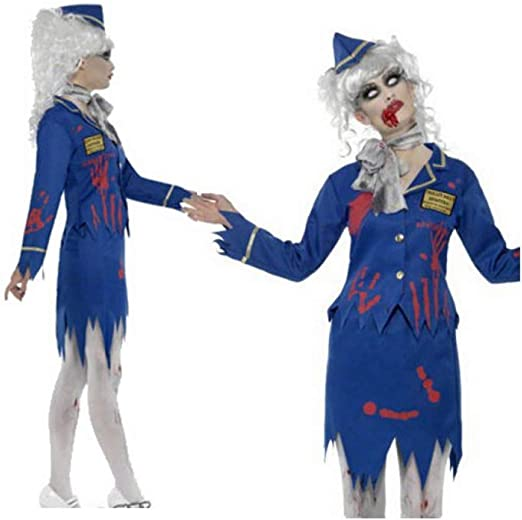 ZLHZYP Disfraz Halloween Disfraces de azafata Zombie Halloween ...