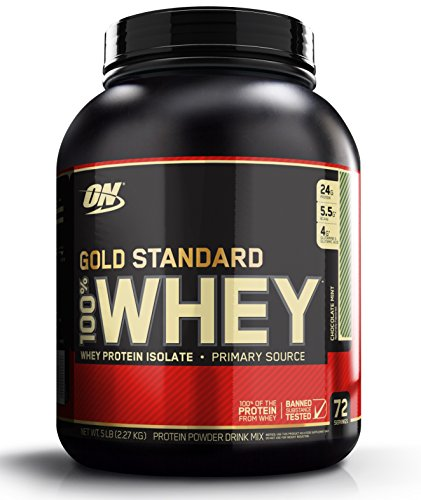 (OPTIMUM NUTRITION GOLD STANDARD 100% Whey Protein Powder, Chocolate Mint, 80 Ounce)