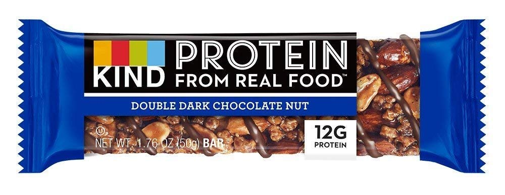 KIND Protein Bars, Double Dark Chocolate Nut, Gluten Free, 12g Protein,1.76oz, 36 Bars