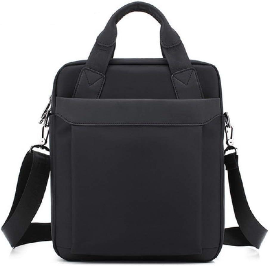 Mens Waterproof Oxford Briefcase Handbag Messenger Shoulder Bag Black Size S,L