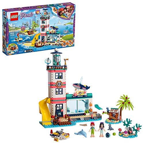 LEGO Friends Lighthouse Rescue Center 41380 Building Kit with Lighthouse Model and Tropical Island Includes Mini Dolls and Toy Animals for Pretend Play, New 2019 (602 Pieces)