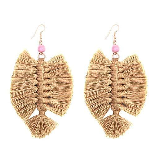 Leaf Tassel Earrings for Women Bohemian Fringe Drop Dangle Earrings Summer Beach Jewelry Gifts for Women Girls