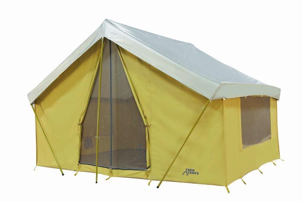 Amazon.com  Trek Tents 10 x 14u0027 Canvas Cabin Tent Khaki  C&ing Cabin Tent  Sports u0026 Outdoors  sc 1 st  Amazon.com & Amazon.com : Trek Tents 10 x 14u0027 Canvas Cabin Tent Khaki : Camping ...