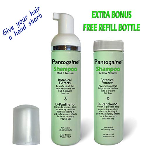 Keratin Research Pantogaine Shampoo Boosting Hair Growth Stop Hair Loss Scalp Healing Increase the Effectiveness of Hair Growth Clinically Proven to Heal Restore Recover hair bulb D Panthenol