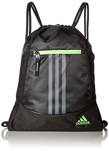 Price comparison product image adidas Alliance II Sack Pack, One Size, Black/Onix/Solar Green