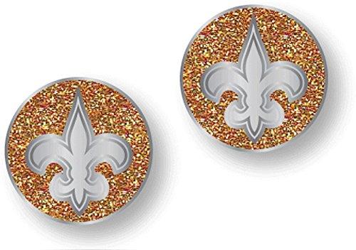 NFL New Orleans Saints Glitter Post Earrings