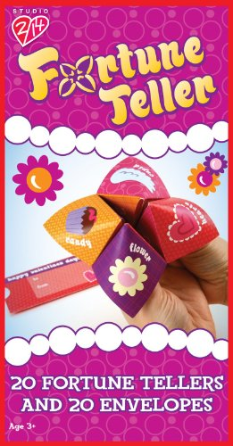 Fortune Teller Valentine's Day Cards Party Accessory (Paper Fortune Tellers)