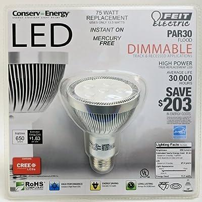 Feit Electric Par30 Flood: Dimmable LED 75 Watt Light Bulb Uses Only 13.5 Watts