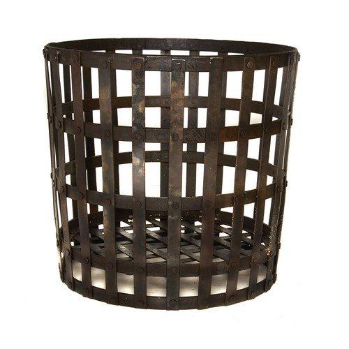 *SALE* 50cm Wrought Iron Gothic Log Basket/Wood/Briquettes/Fireplace Accessory/Storage Round Wood