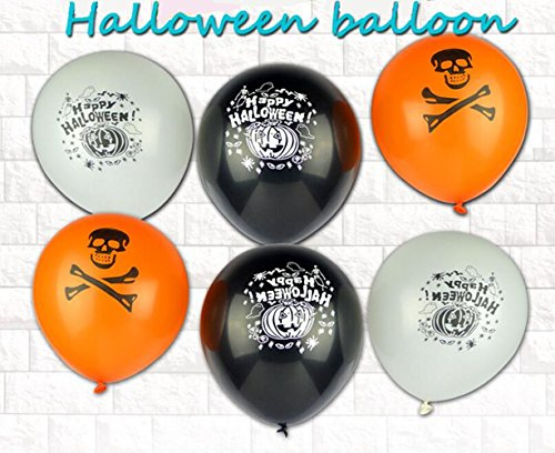 Hot Air Balloon Costume Instructions (GZQ Halloween Spooky Design Balloon Assortment 100PCS)