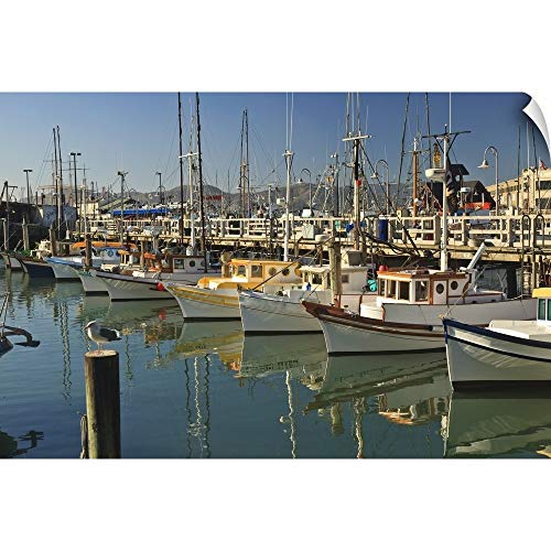 Fishermens Terminal - CANVAS ON DEMAND Stuart Westmorland Wall Peel Wall Art Print Entitled Fishermen's Terminal; San Francisco, California, USA 18