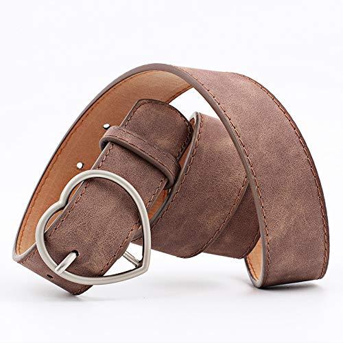 Cinturon con hebilla en forma de corazon en varios colores