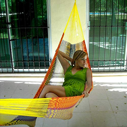 HEAVY-DUTY YUCATAN Cotton String Multicolored Hammock -3 Years Warranty-HIGH QUALITY PRODUCT