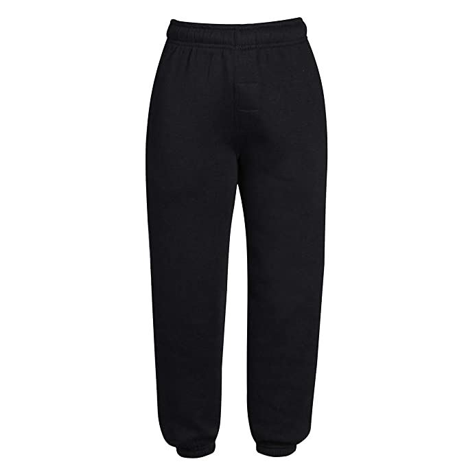 Kids Urban Road Plain Fleece Joggers Comfort Fit With Elastic Waist New Trousers