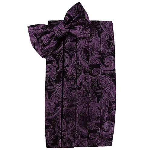 (Men's Tapestry Cummerbund & Bow Tie Set - Many Colors (Wine))