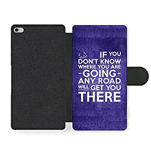 Cat Alice Life Inspirational Quote Faux Leather case for iPhone 6 Plus