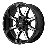 2011 cadillac srx rims - Moto Metal MO970 Gloss Black Wheel Machined with Milled Accents (20x9