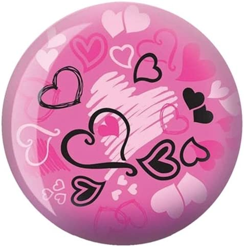 Brunswick Hearts Glow Viz-A-Ball Bowling Ball