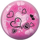 Hearts Glow Viz-A-Ball Bowling Ball