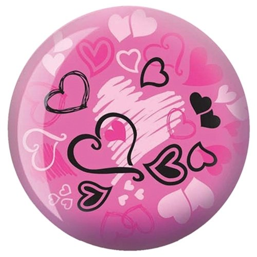 Hearts Glow Viz-A-Ball Bowling Ball