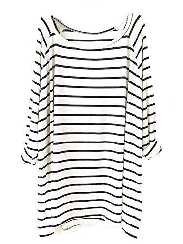 AvaCostume Womens Striped Sleeve T Shirt