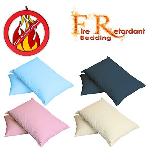 Autumn Nights - Fire Retardant Pillow Case / Cover (BS7-175 Crib7)(Blue)