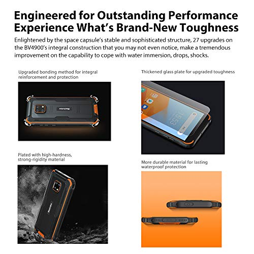 Blackview BV4900 Téléphone Portable Incassable,Écran 5,7' Batterie 5580mAh, Charge Inverse, Smartphone IP68 Étanche… 4