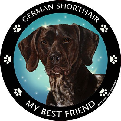 German Pointer My Best Friend Magnet (German Shorthair Magnet)
