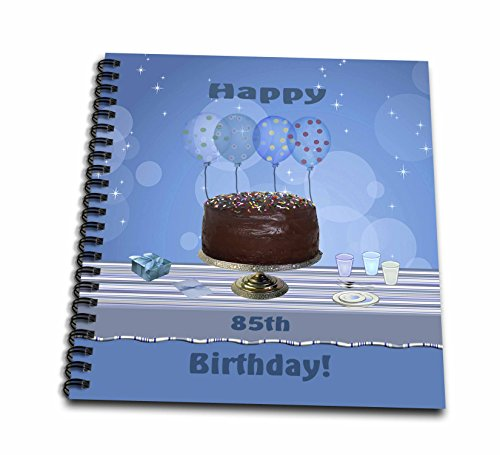Album 12x12 Chocolate (3dRose db_123971_2 85th Birthday Party with Chocolate Cake and Blue Balloons Memory Book, 12 by 12-Inch)