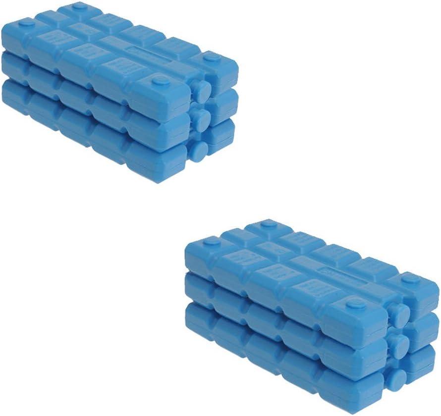 We search you save - Juego de bloques de de hielo para nevera portátil (6 unidades, 16 x 9 x 2 cm)
