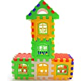 Welecom(TM) Bricks House Building Blocks with Letters, 24-Piece