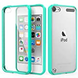 iPod Touch 6 Case, iPod Touch 5 Case, MoKo Shock Absorbing TPU Bumper Ultra Slim Clear Protective Case with Anti-Scratch Hard Back Cover for Apple iPod Touch 6th / 5th Generation - Mint GREEN