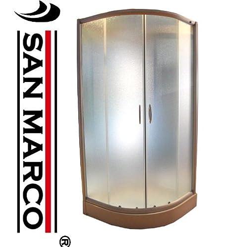 Cabina Doccia San Marco.San Marco Sms4015 Box Doccia 90x90 Semicircolare Puntinato