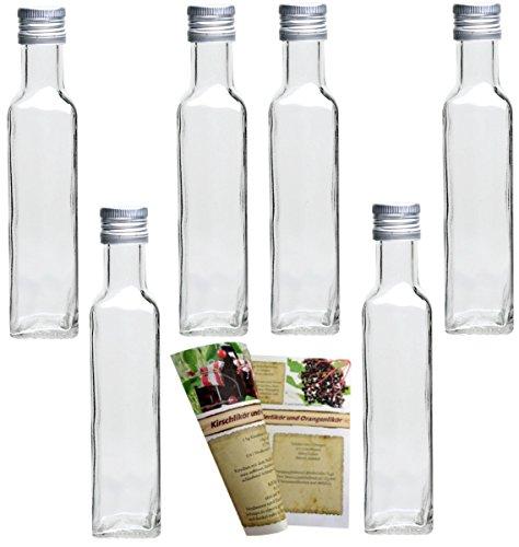 gouveo 20 empty bottles 250 ml with cork empty glass bottles liqueur bottles