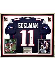 Premium Framed Julian Edelman Autographed Signed New England Patriots Jersey  - Memorabilia JSA COA 59b79d5a0