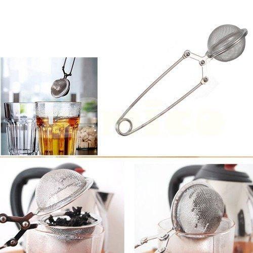 Dealglad/® acciaio inossidabile Spice Herbal Tea Leaf infusore colino filtro spremere cucchiaio Snap mesh Ball