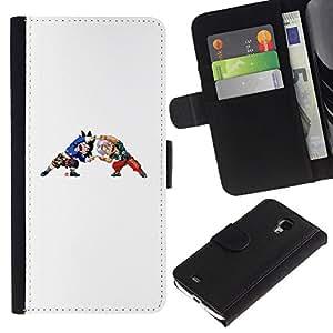 LECELL--Cuero de la tarjeta la carpeta del tirón Smartphone Slots Protección Holder For Samsung Galaxy S4 Mini i9190 -- Z Bola --