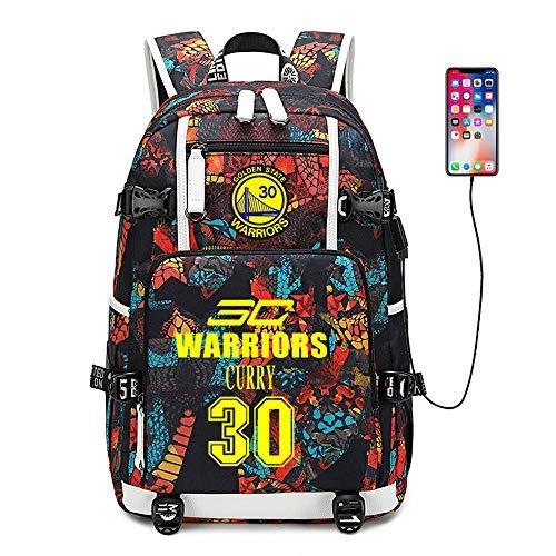 Basketball Player Star Curry Multifunction Backpack Travel Student Backpack Fans Bookbag for Men Women (Style 1)