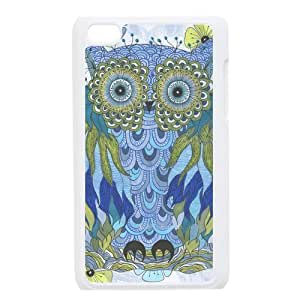 Owl Cartoon For Ipod Touch 4th Csae TPU protection Case HYH705037