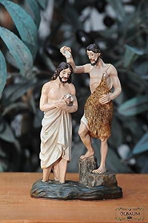 Amazonde Krippenzubehör Mit Led Taufe Jesu Taufe Von