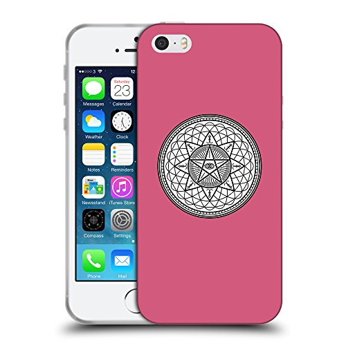GoGoMobile Coque de Protection TPU Silicone Case pour // Q09710614 Mystique occulte 20 Rougir // Apple iPhone 5 5S 5G SE