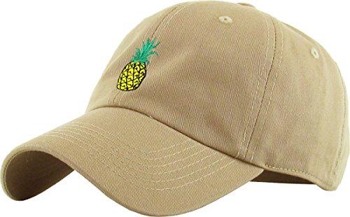 KBSV-021 KHK Pineapple Dad Hat Baseball Cap Polo Style Adjustable