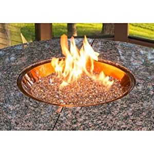 21 inch round burner bowl copper gas diy fire pit kit for Amazon prime fire pit